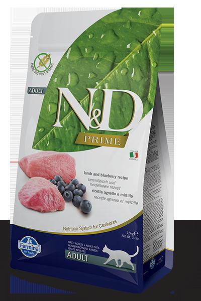 Farmina ND Grain Free Cat – Lamb n Blueberry 1.5 kg - Pet Food - Pet Store - Pet supplies