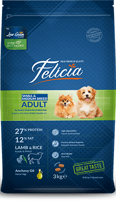 Felicia Adult Dog Small-Medium Breed Lamb Rice-3kg - Pet Food - Pet Store - Pet supplies