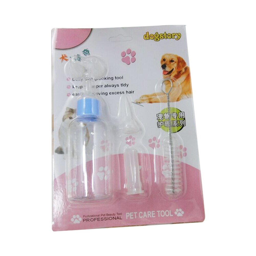 Pet Nursing Bottle Dog Feeders Puppy Cat Kitten Feeding Bottle Nipple Brush Kit Water Fountain Milk Bottle Pet Supplies - Pet Accessories - Pet Store - Pet supplies