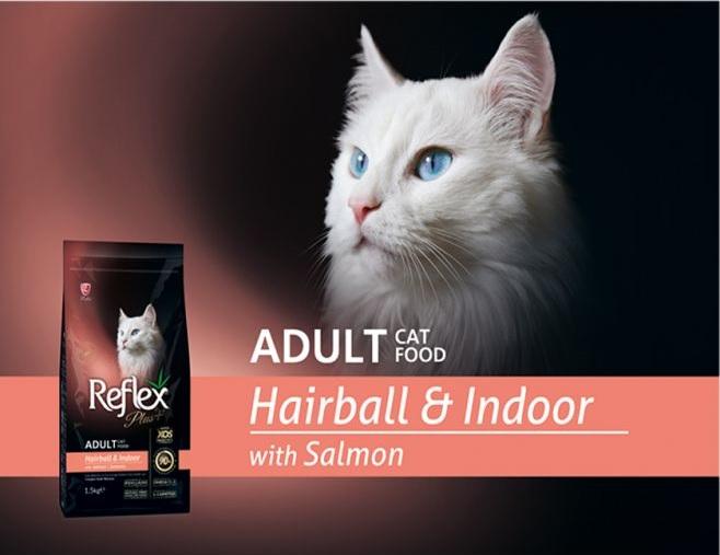 Reflex Plus Adult Cat Food Hair Ball Salmon 1.5 kg - Pet Food - Pet Store - Pet supplies