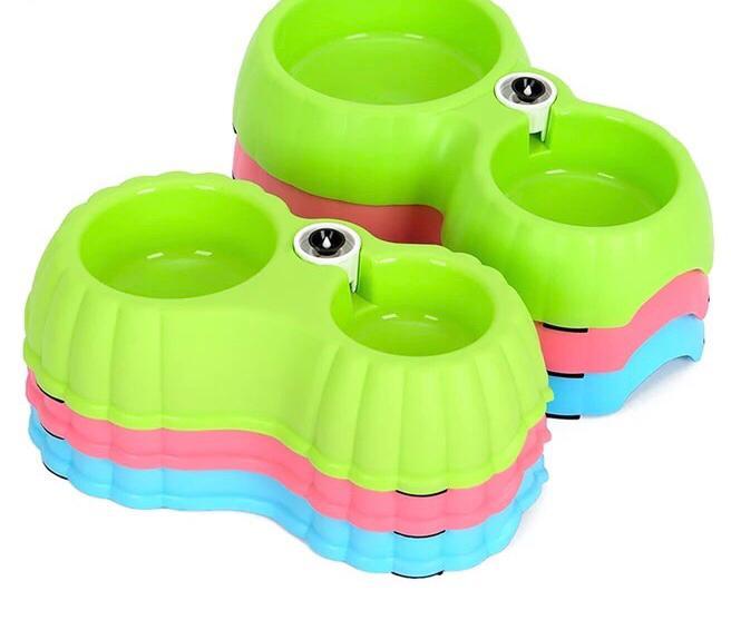 Dispancer Double Cat Shape Bowl - Pet Accessories - Pet Store - Pet supplies