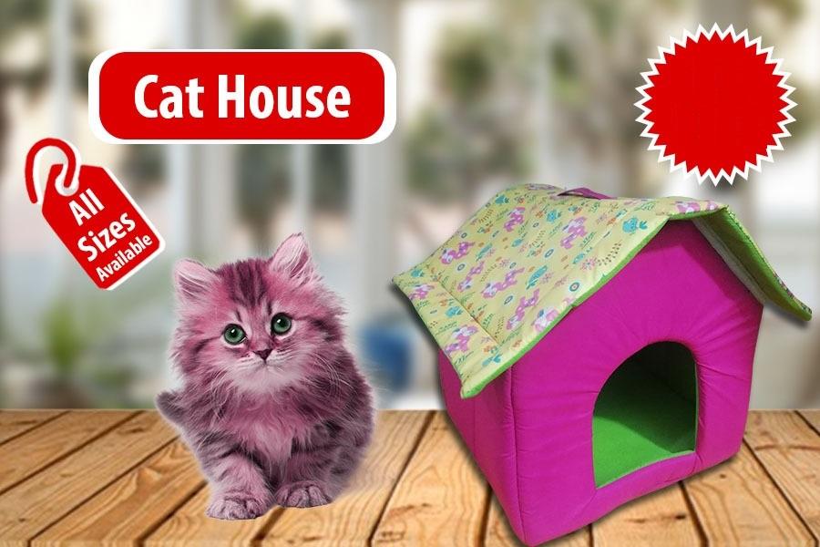 Cat House in Cotton - Pet Accessories - Pet Store - Pet supplies