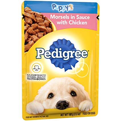 Pedigree Dog Food Pouches / Morsels In Sauce With Chicken / Filet Mignon Flavor In Gravy / With Chicken In Jelly