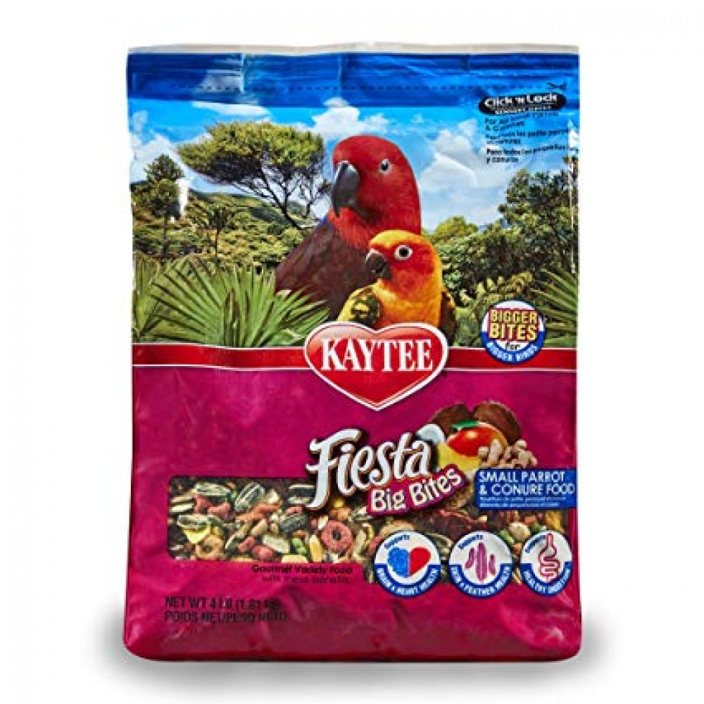 Kaytee Fiesta Big Bites Parrot Conure Bird Food - 1.18 kg