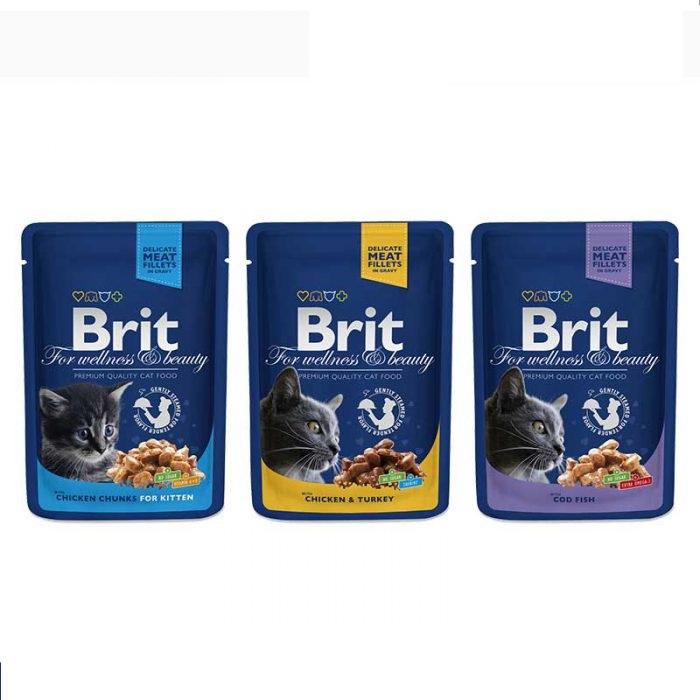 Brit Premium Cat Pouches - Pet Food - Pet Store - Pet supplies