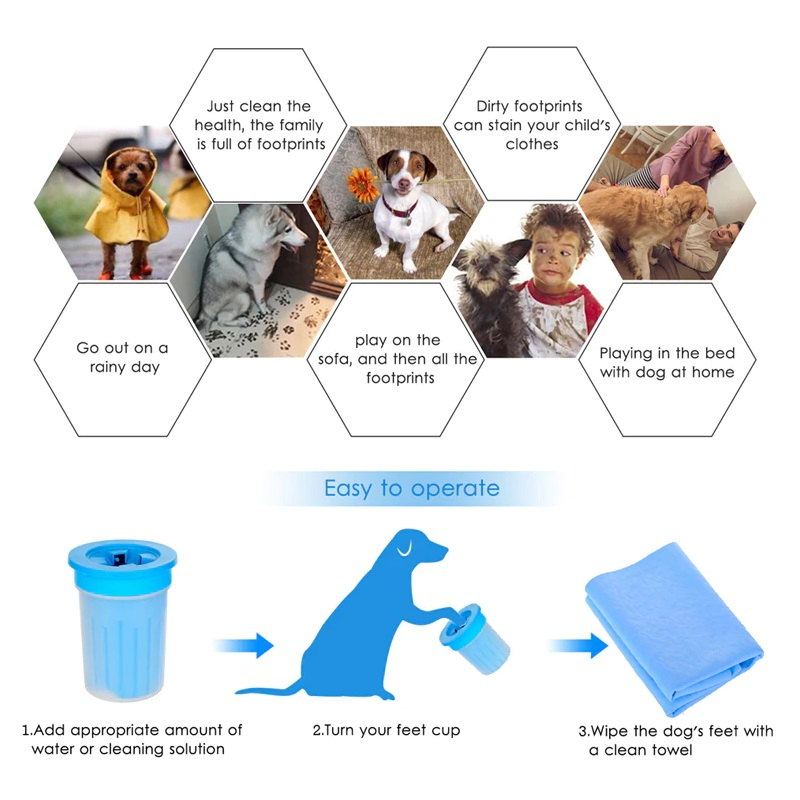 Pet Cats Cleaner Dogs Foot Clean Cup For Dogs Cats Cleaning Tool Plastic Washing Brush Paw Washer - Pet Accessories - Pet Store - Pet supplies