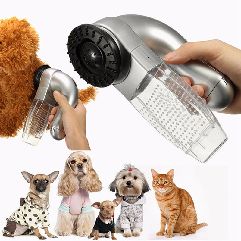 Electric Cat Dog Pet Vacuum Fur Cleaner Hair Remover Puppy Trimmer Cat Grooming Tool