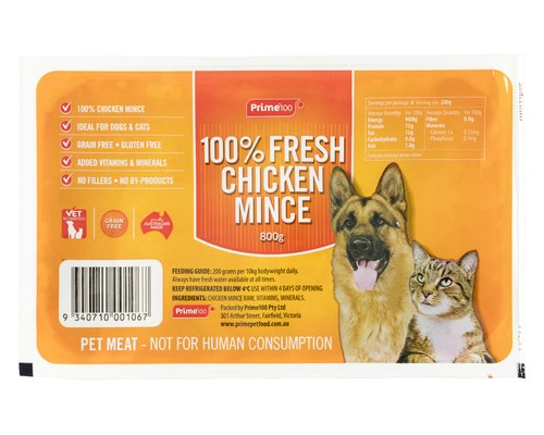 Minced Chicken Fresh For Dogs and Cats - 1 kg - Pet Food - Pet Store - Pet supplies